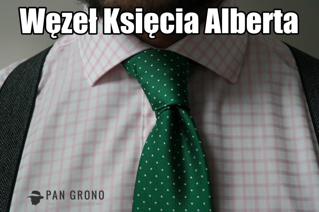 wiazanie krawata wezel ksiaze albert