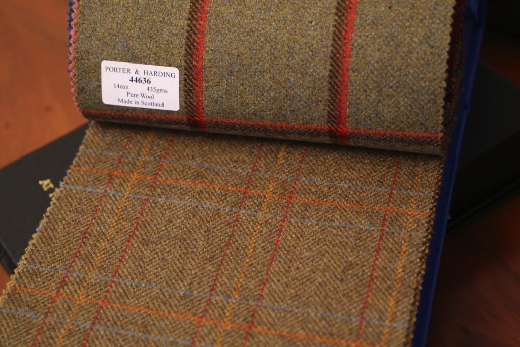 tkaniny na garnitur harris tweed