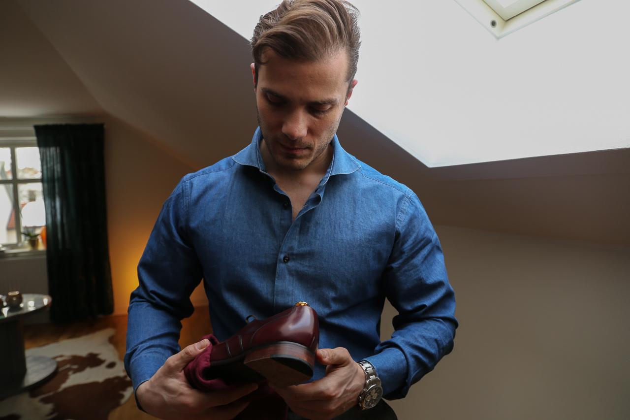 eleganckie obuwie dla mężczyzny