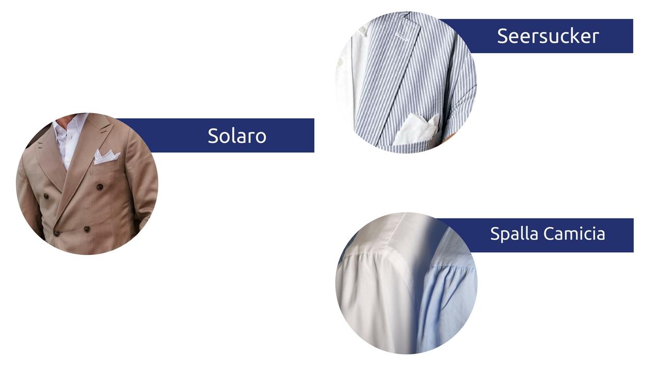 słowniczek pojęć moda męska słownik seersucker solaro spalla camicia