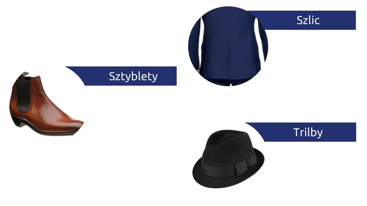 słowniczek pojęć moda męska słownik sztyblety szlic trilby