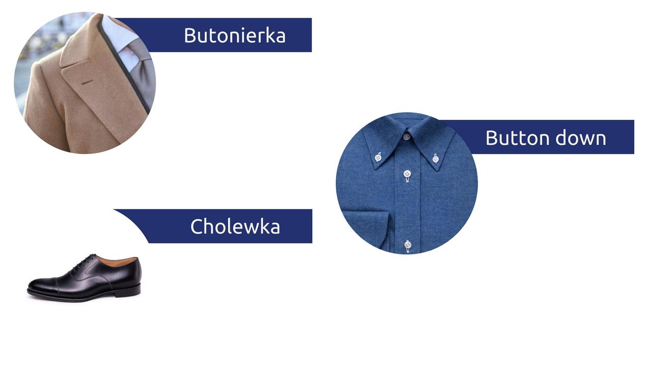 słowniczek pojęć moda męska słownik butonierka button down cholewka