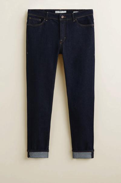Granatowe spodnie jeans