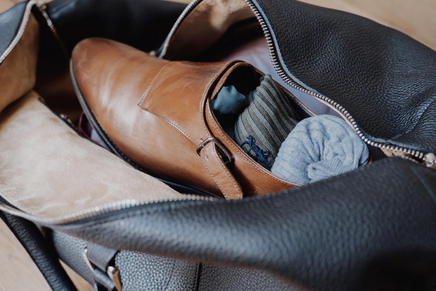buty transport torba skórzana