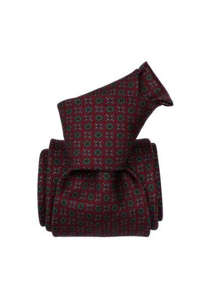 Krawat jedwabny klasyczny we wzory