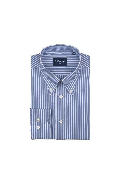 Błękitna koszula w białe prążki Osovski