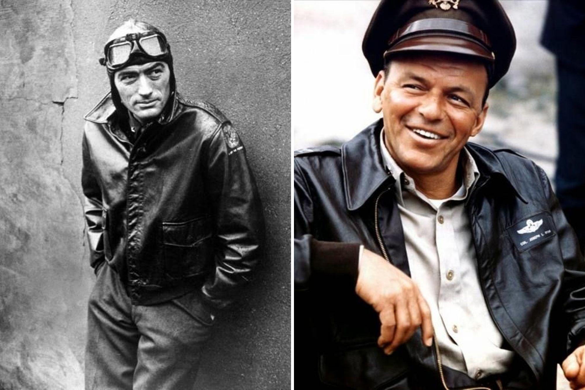 Gregory Peck i Frank Sinatra w kurtce lotniczej A2
