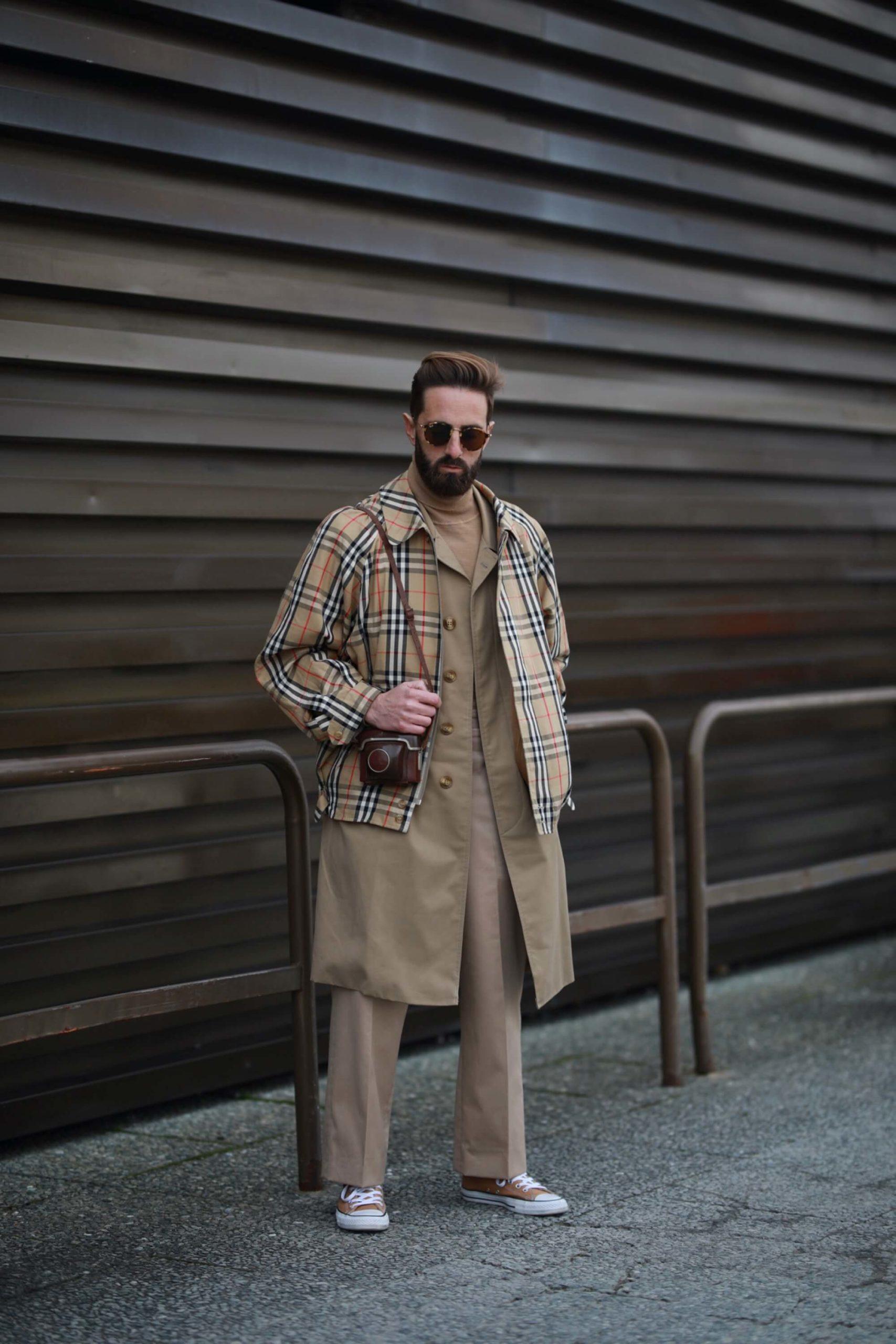 kurtka w tartan