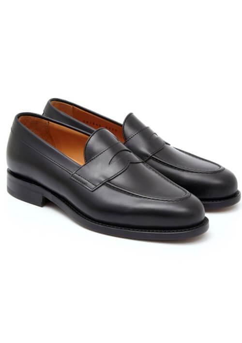 Czarne penny loafers Berwick