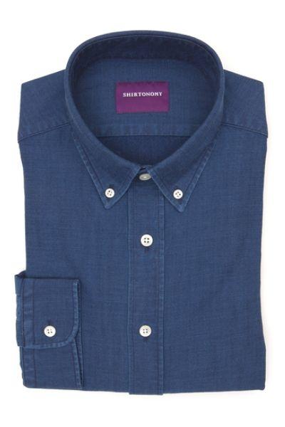 Denimowa koszula na miarę