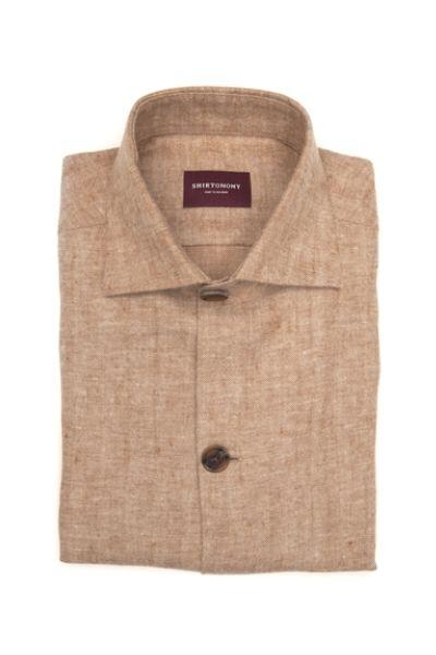 Lniana koszula typu overshirt na miarę