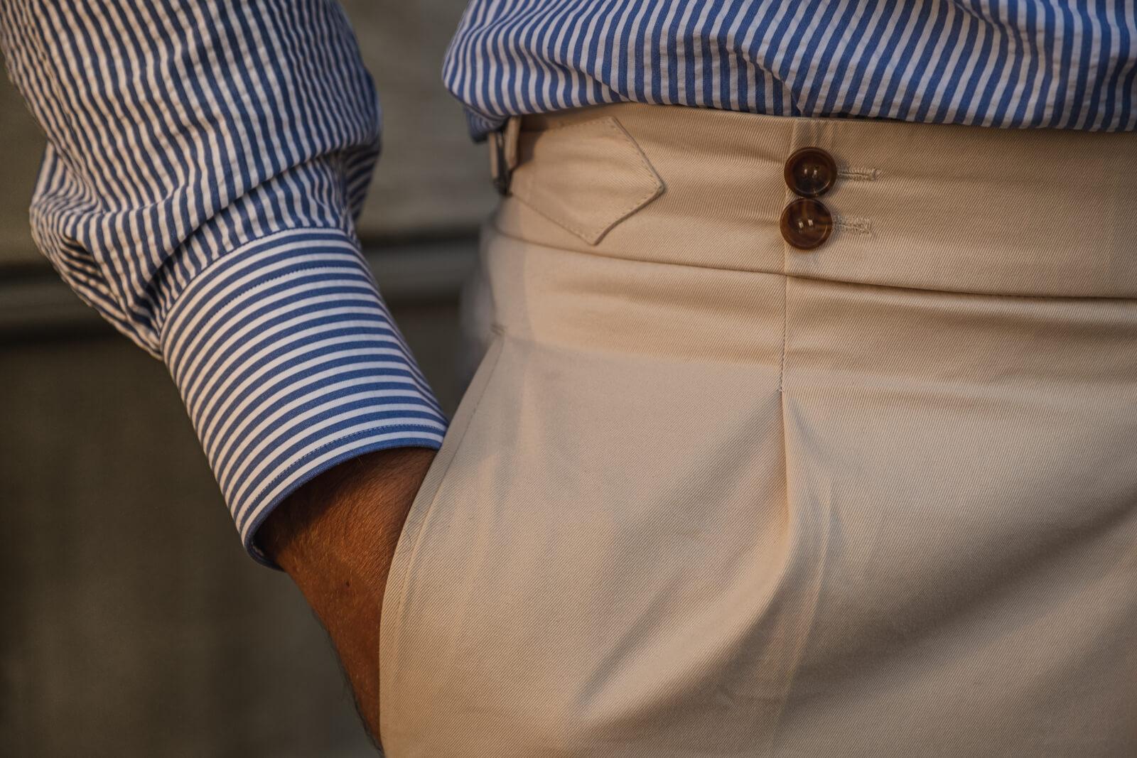 spodnie na miarę bawełna