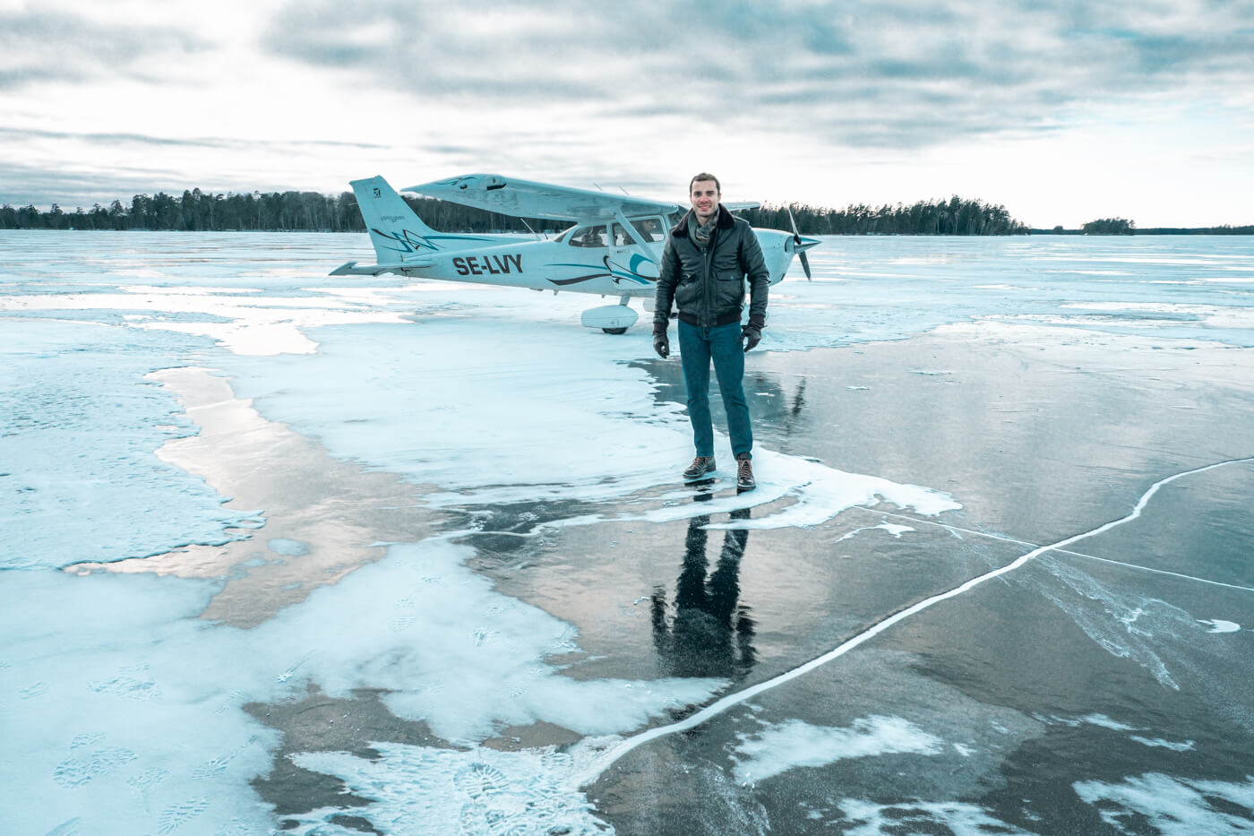 lądowanie na lodzie samolotem