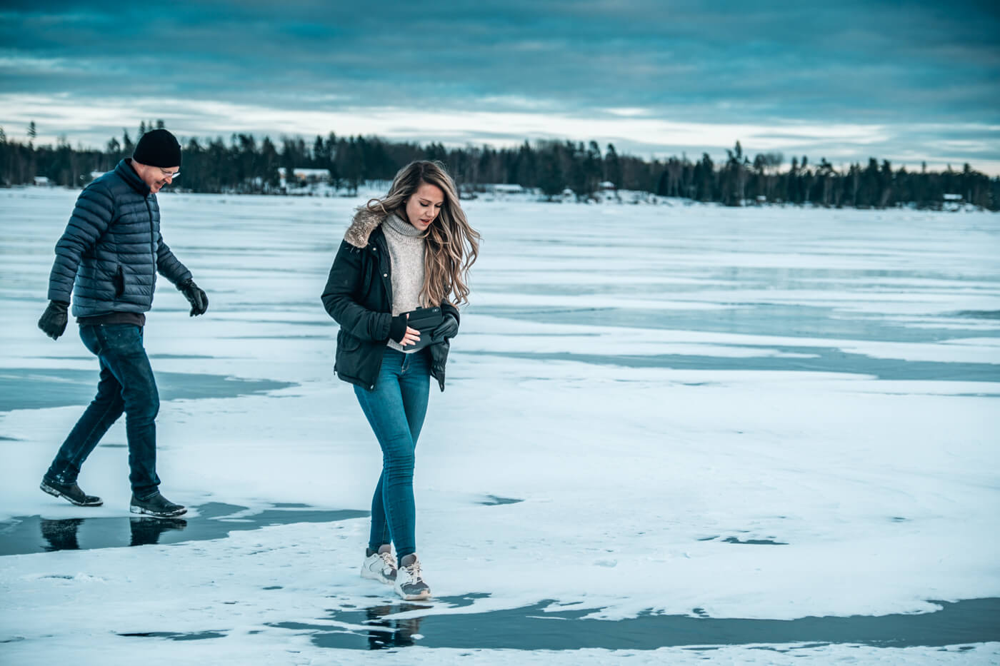 zamarznięte jezioro Helgasjon