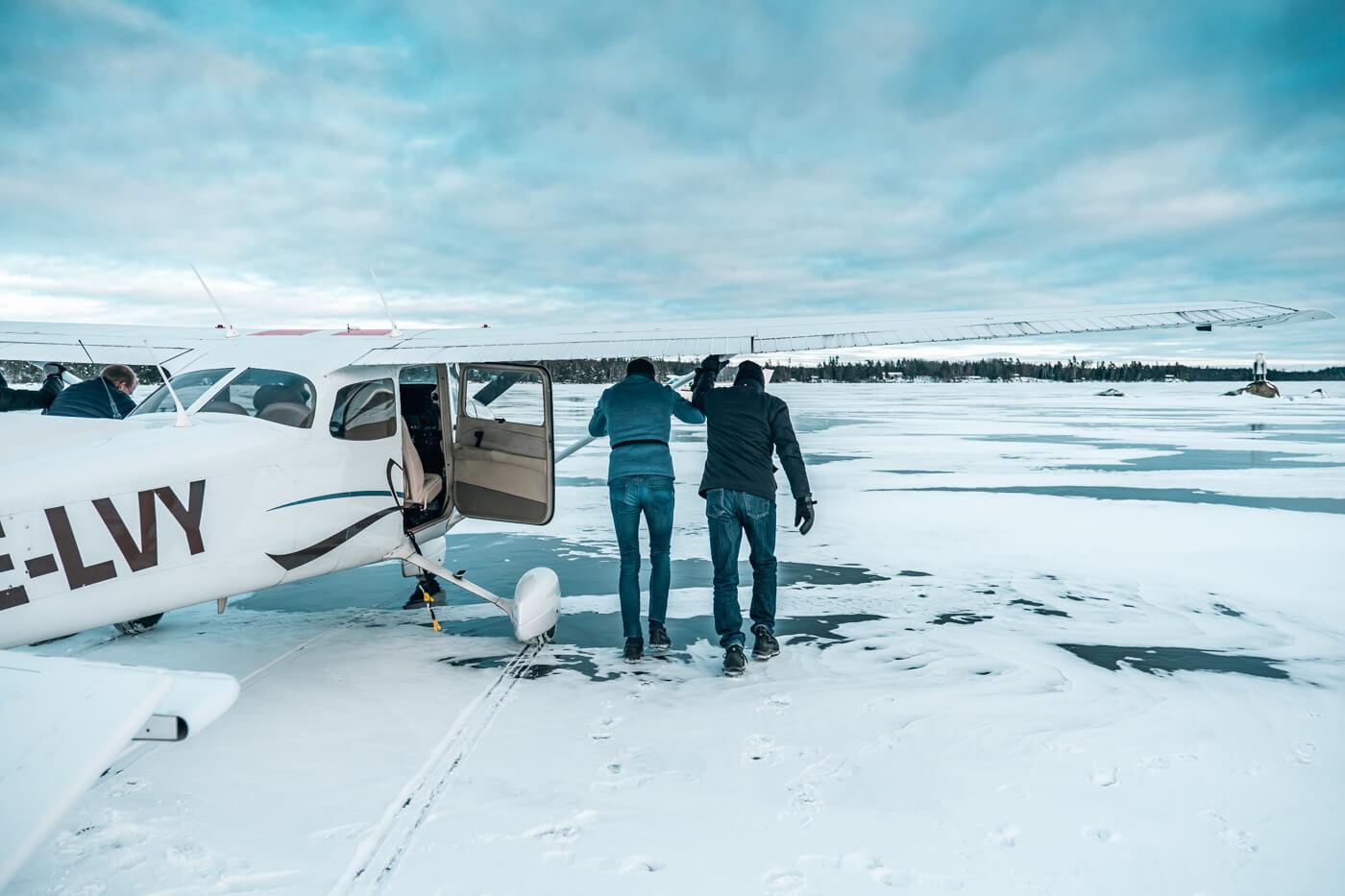 lądowanie na lodzie