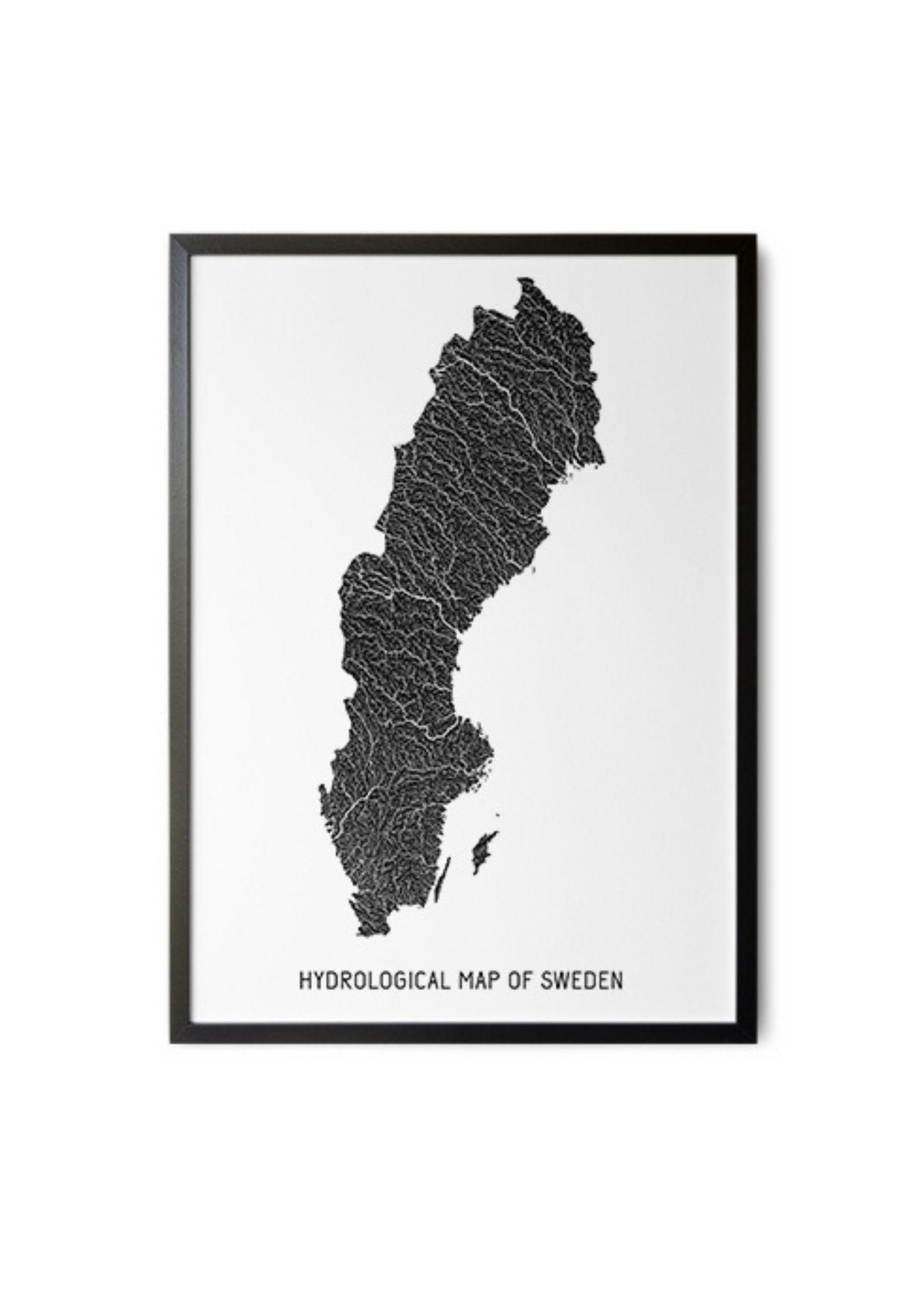 Plakat – mapa hydrologiczna