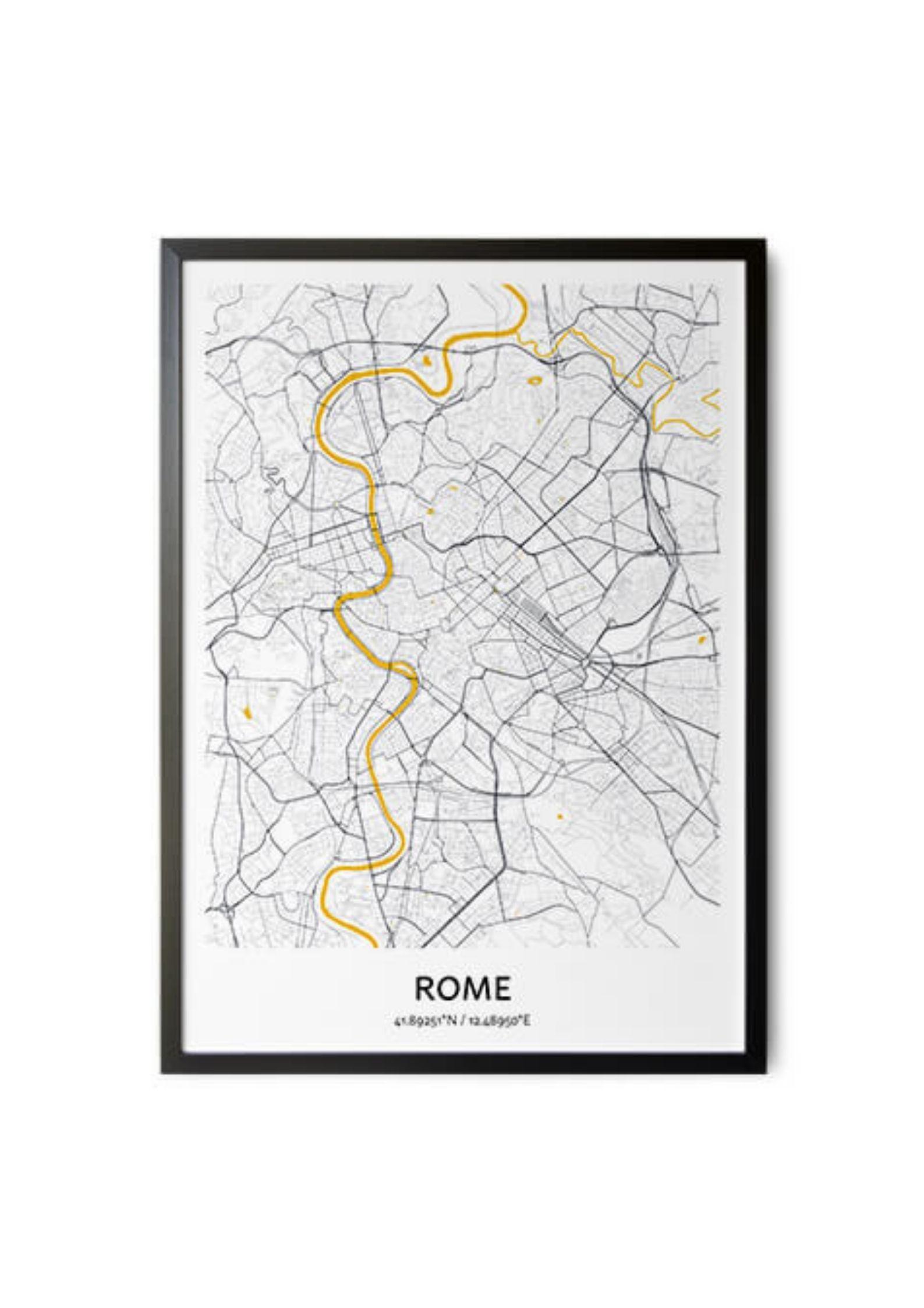 Plakat – mapa miasta